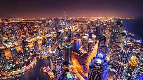 Dubai City Skyline Widescreen Hd Wallpaper Wallpaper