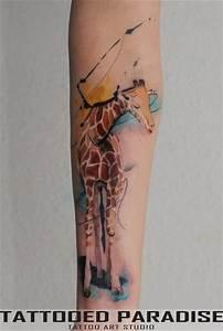 Giraffe watercolor tattoo   Tattoo artist: Aleksandra ...