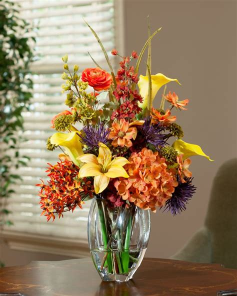 fall flower arrangements 34 faux flower fall arrangements for indoors and outdoors digsdigs