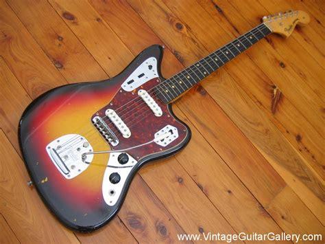 vintage guitar gallery  sunburst fender jaguar