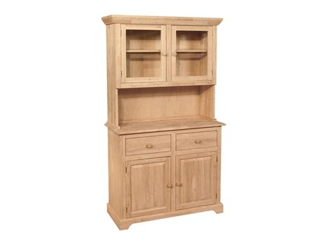 unfinished furniture hutch hutches real wood custom unfinished furniture