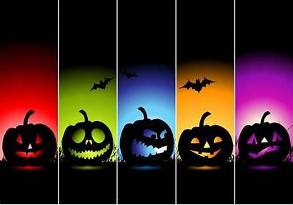 Halloween Colorful Wallpapers Pumpkin Horor Pixelstalk