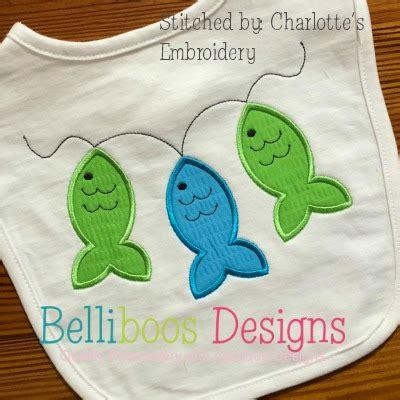 Applique On Line by Fish On Line Applique Design Belliboos Designs