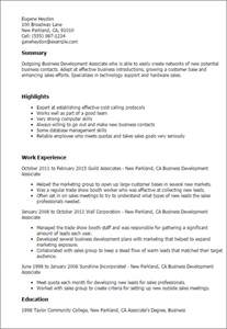 business development associate resume exle professional business development associate templates to showcase your talent myperfectresume