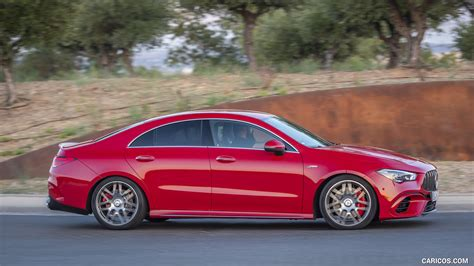 Big power is easy to come by in 2020. 2020 Mercedes-AMG CLA 45 (Color: Jupiter Red) - Side | HD ...