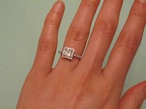 Princess Cut Engagement Rings On Finger | www.pixshark.com ...