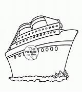 Cruise Ship Coloring Pages Drawing Transportation Printable Wuppsy Printables Ships Boat Disney Templates Boys Titanic Visit Tags Getdrawings Find sketch template