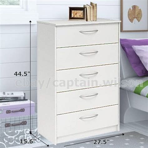 bedroom dressers and chests bedroom storage dresser chest 5 drawer modern wood 14276 | s l1000