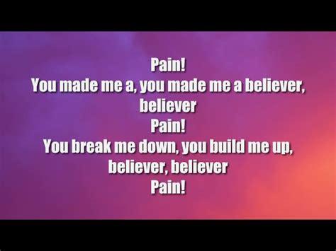 Imagine Dragons Believer Lyrics
