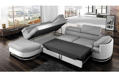 canapes convertibles de qualite canapé d 39 angle convertible islanda en simili cuir de