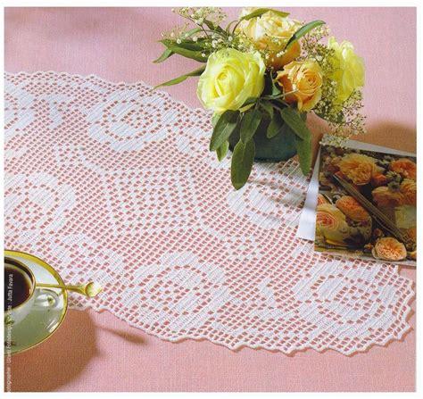 napperons oval avec des roses grille filet crochet 1 toutes les grilles grilles