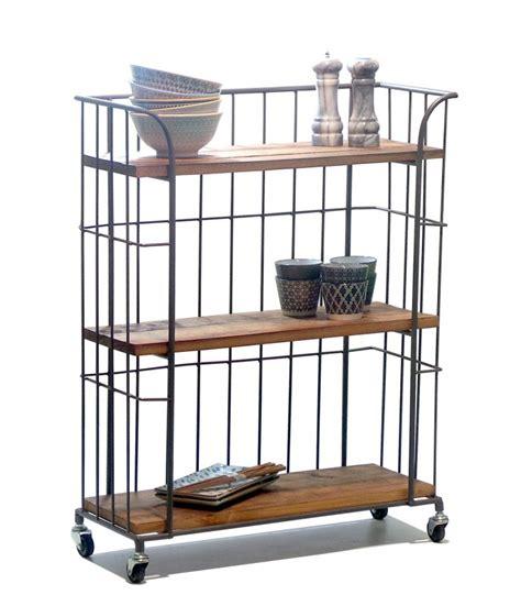 étagère à poser sur bureau étagère de rangement sur roulettes en bois et métal gris