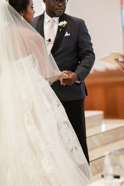 Tampa Bay Bride and Groom Exchange Vows in Church Ceremony