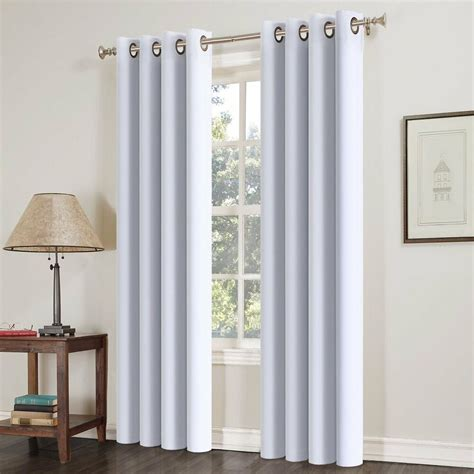insulated drapery panels 2pcs blackout curtains thermal insulated solid grommets