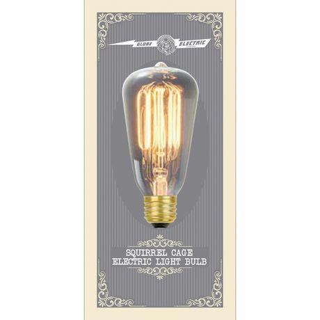 globe electric 60w s60 incandescent filament bulb