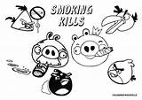 Coloring Smoking Pages Printable Stop Colorings Angry Pigs Birds Coloringpagesville sketch template
