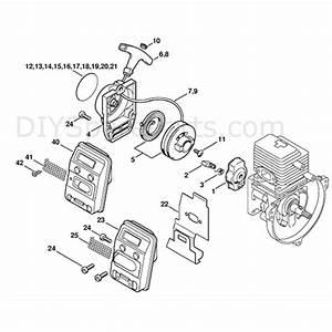 Stihl Fs 85 Brushcutter  Fs85r  Parts Diagram  Rewind