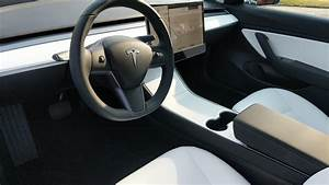 Tesla Model 3 White Interior / Tesla Model 3 with white interior option spotted ahead of ...