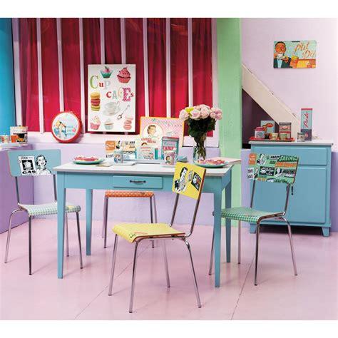 buffet de cuisine vintage buffet de cuisine vintage en bois bleu l 73 cm kitchen
