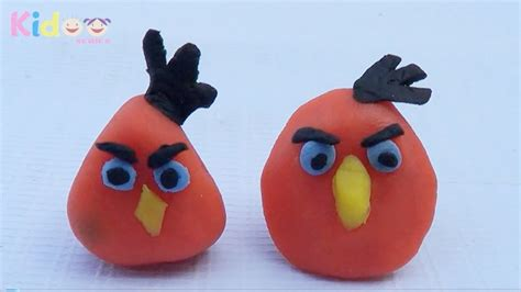 clay model tutorial  angry bird toys  clay