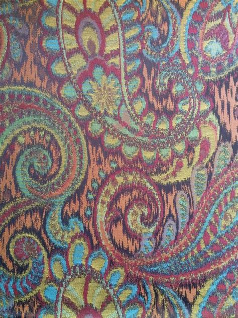 Medium Weight Upholstery Fabric by Pailsley Print Medium Weight Upholstery Fabric Tone
