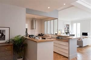 cuisines semi ouvertes sur le salon ou la salle a manger With cuisine en u ouverte