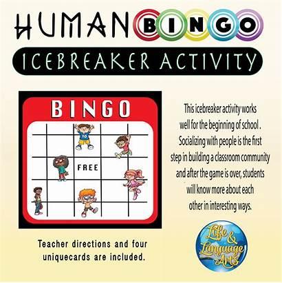 Bingo Human Icebreaker Classroom Activities Teacherspayteachers Middle