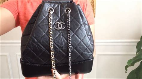 chanel gabrielle backpack  ways  carry youtube