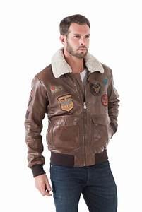 Blouson Cuir Aviateur Homme : blouson homme style aviateur ~ Dallasstarsshop.com Idées de Décoration
