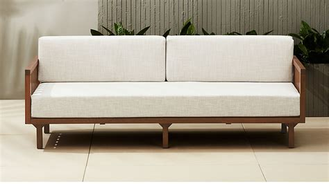 Cb2 Loveseat by Tropez Outdoor Wood Sofa Reviews Cb2