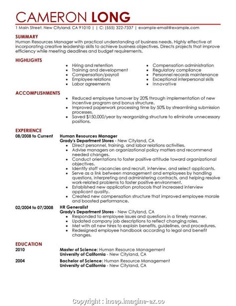 Hr Resume by Styles Best Format Of Hr Resume Sle Hr Director Resumes
