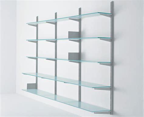 mensole di cristallo produzione librerie metalliche da parete