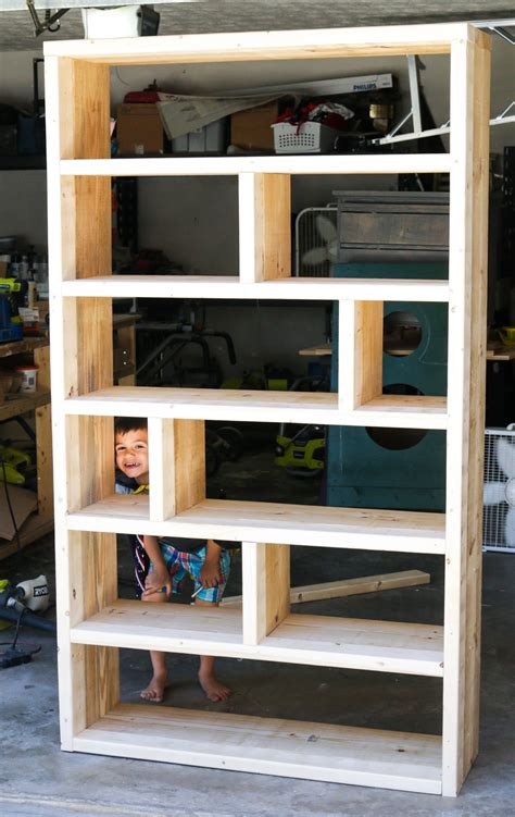 how to build a bookshelf diy rustic pallet bookshelf