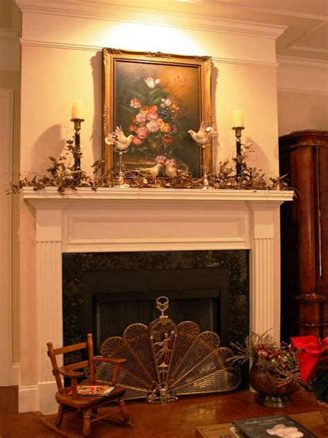 christmas fireplace decorations ideas wood fireplace
