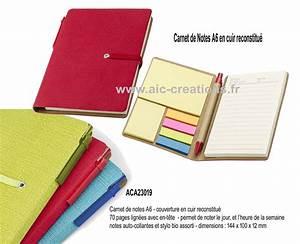 Carnet De Note Cuir : articles de bureau bloc notes objets promotionnels aic cr ations ~ Melissatoandfro.com Idées de Décoration