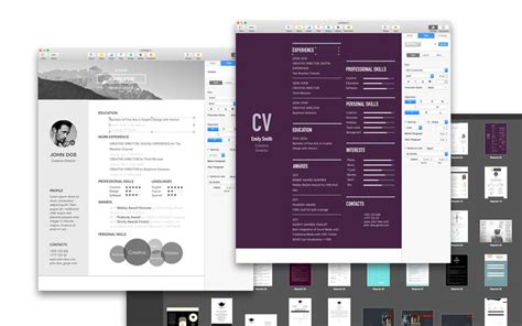 resume templates for pages 2016 2 0 mac os x mac599