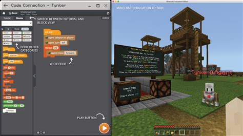tynker supports coding  minecraft education