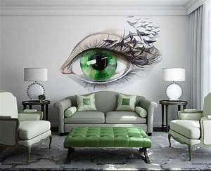 15, Refreshing, Wall, Mural, Ideas, For, Your, Living, Room