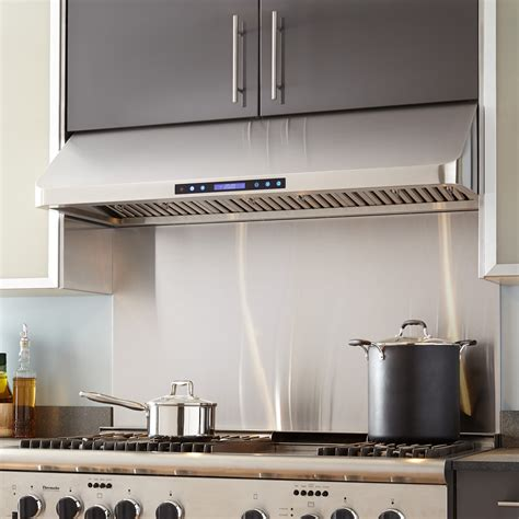 42 under cabinet range hood 42 quot holt series stainless steel under cabinet range hood