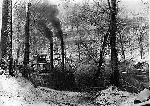 River Boat on Green River,1890 in Butler County, Kentucky