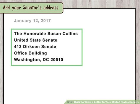 how to address a letter to mexico how to write a letter to your united states senator 31763