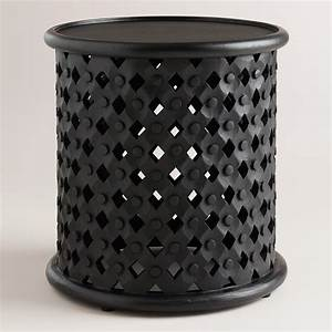 black tribal carved accent table world market With tribal carved wood coffee table