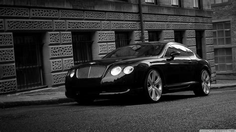 Bentley Continental Gt Black 4k Hd Desktop Wallpaper For