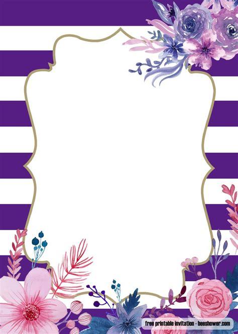 lavender purple baby shower invitations design