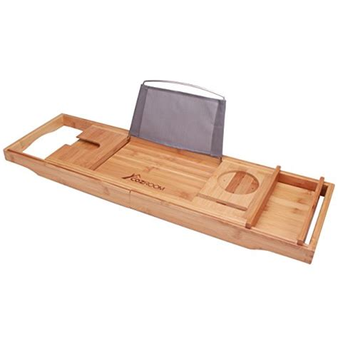 Bamboo Bathtub Caddy Tray by Bamboo Expandable Bathtub Caddy Adjustable Rack Tray Wine