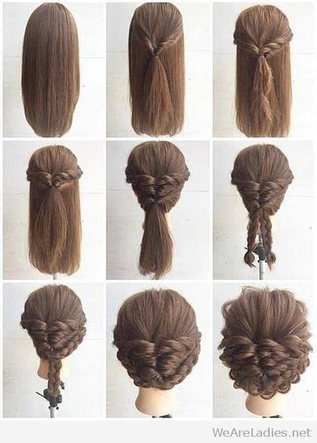 fashionable braid hairstyle tutorial  shoulder length