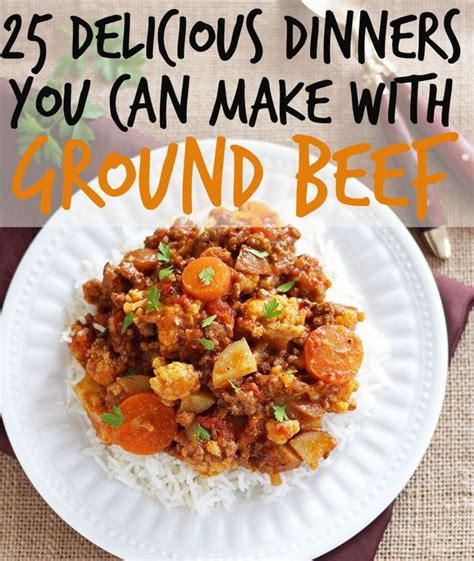 different dinners to make different ground beef recipes