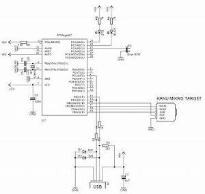 etekno informasi elektronika dan teknologi membuat usb With led 1 connected to pin 2 led 2 to pin 3 led 3 to pin 4 the r1 r2 r3