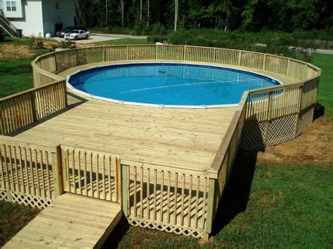 pool decks enchanting wood deck kits for above ground pools with lattice deck skirting ideas and