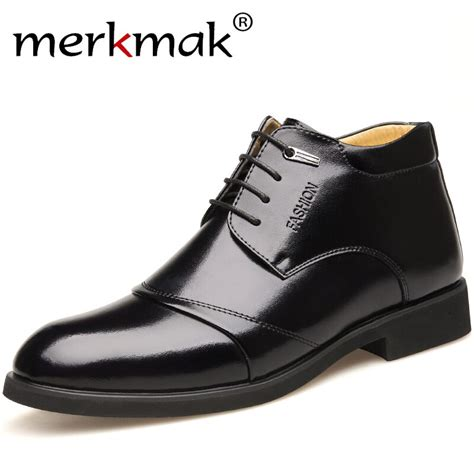 Merkmak Winter New Designer Men Genuine Leather Boots